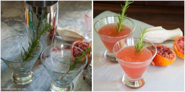 Blood Orange Rosemary Gin Sprite