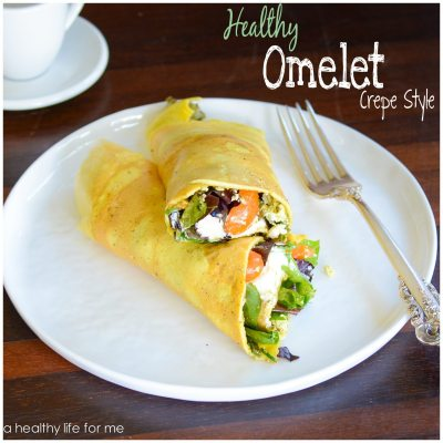 Healthy Omelet Crepe Style