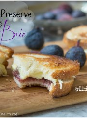 Fig Preserve and Brie Grilled Cheese Sandwich Recipe | ahealthylifeforme.com