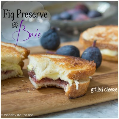 Brie and Fig Preserve Grilled Cheese