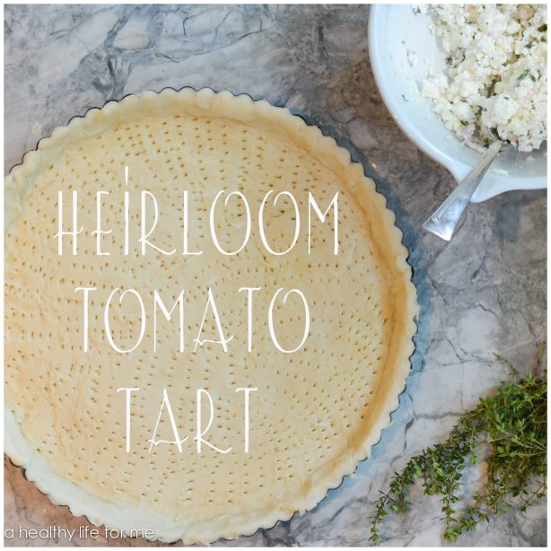 Heriloom Tomato Tart Reciope   ahealthylifeforme.com