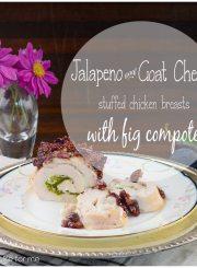 jalapeño goat cheese stuffed chicken recipe | ahealthylifeforme.com