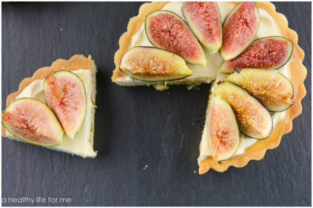 Fresh Figs Honey Tart Mascarpone cream