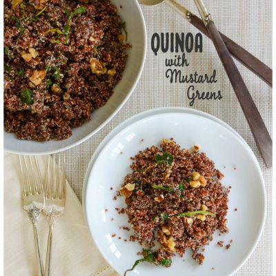 Quinoa with Mustard Greens