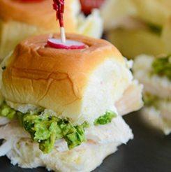 Hawaiian Turkey Avocado Mini Sandwich