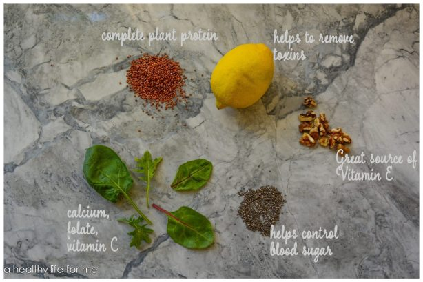 ingredients for quinoa Superfood Healthy