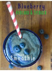 Blueberry Avocado Spinach Smoothie Recipe | ahealthylifeforme.com