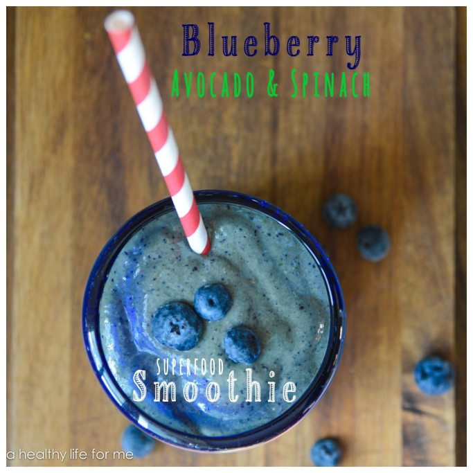 Blueberry Avocado Spinach Smoothie Recipe | ahealthylifeforme.com