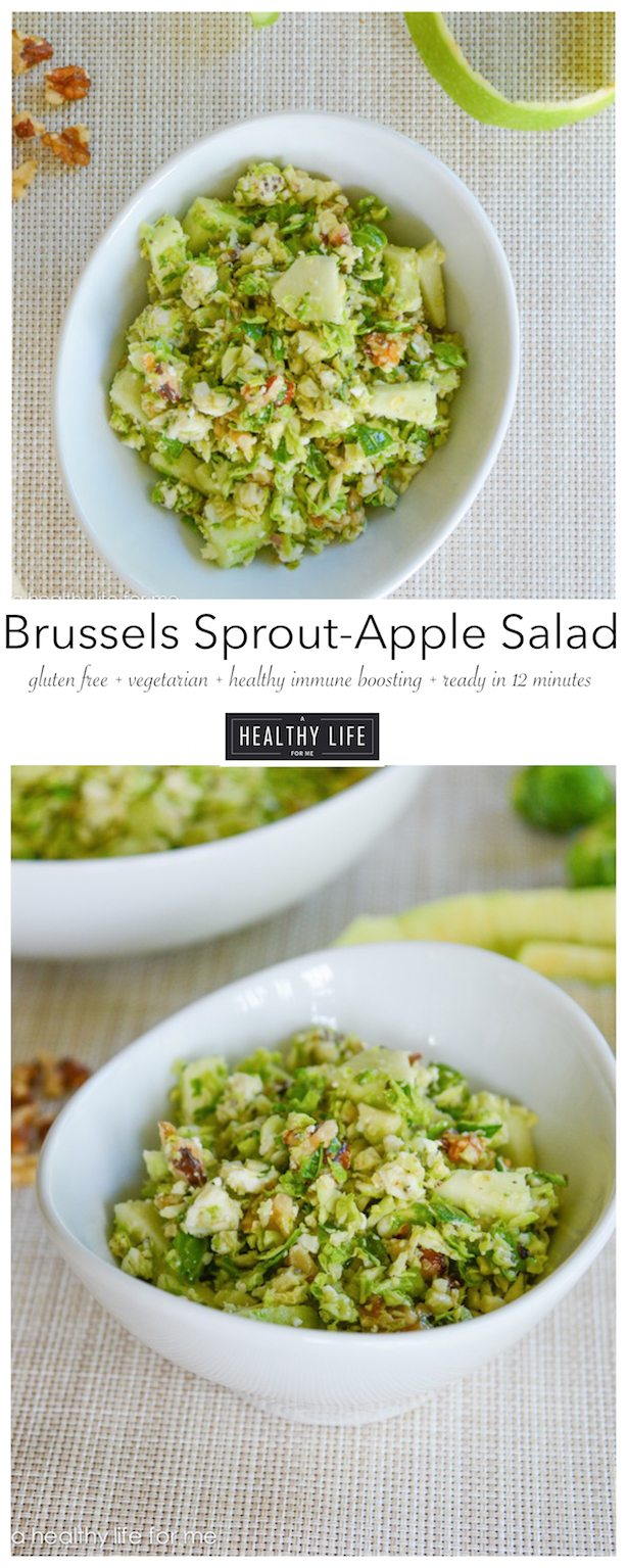 Brussels Sprouts and Apple Salad with Blue Cheese - A Healthy Life For ...