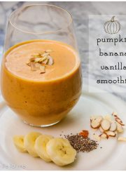 Pumpkin Banana Vanilla Smoothie Recipe | ahealthylifeorme.com
