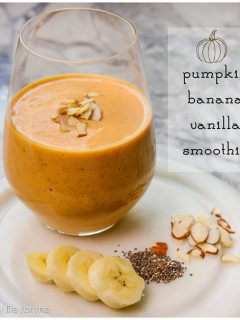 Pumpkin Banana Vanilla Smoothie