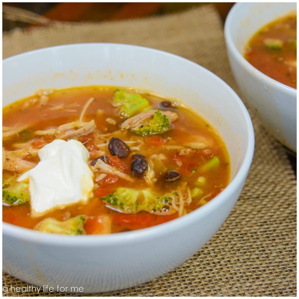 Turkey Tortilla Soup using leftover Turkey