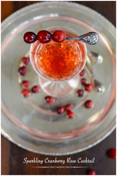 Sparkling Rose Cranberry Cocktail 3