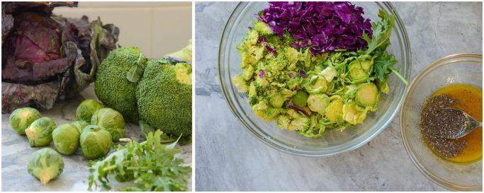 Kale Brussels Sprout Broccoli Salad Superfood Cruciferous Vegetable