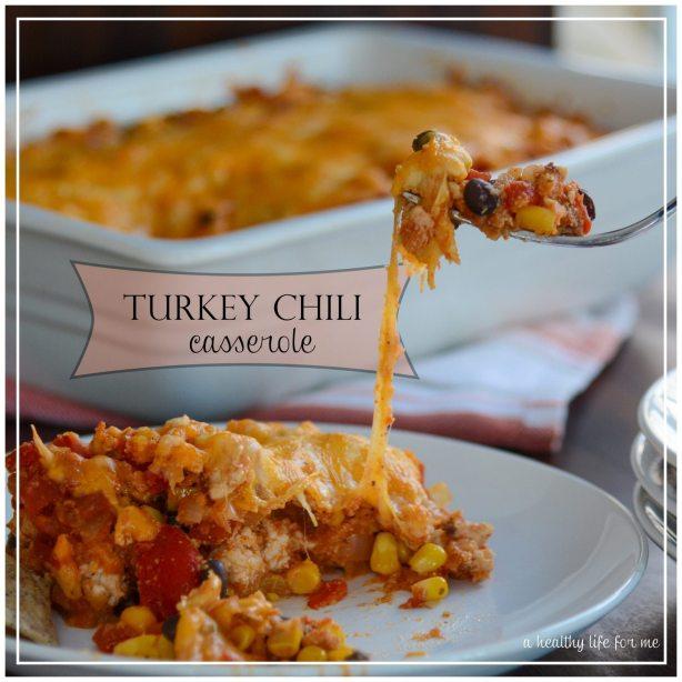 Turkey Chili Casserole Healthier Super bowl Recipe
