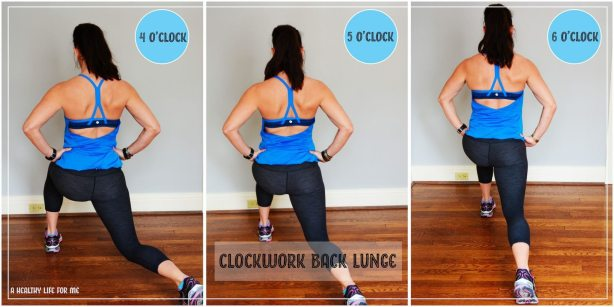Clockwork Back Lunge with Amy Stafford at ahealthylifeforme.com