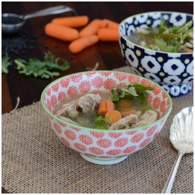 Lentil Kale Chicken Soup