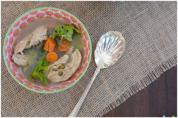 Lentil Kale Chicken Soup Healthy Recipe