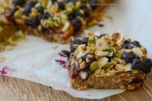 Oatmeal Superfood Breakfast Bars Recipe   ahealthylifeforme.com