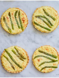 Asparagus Lemon Tartlete