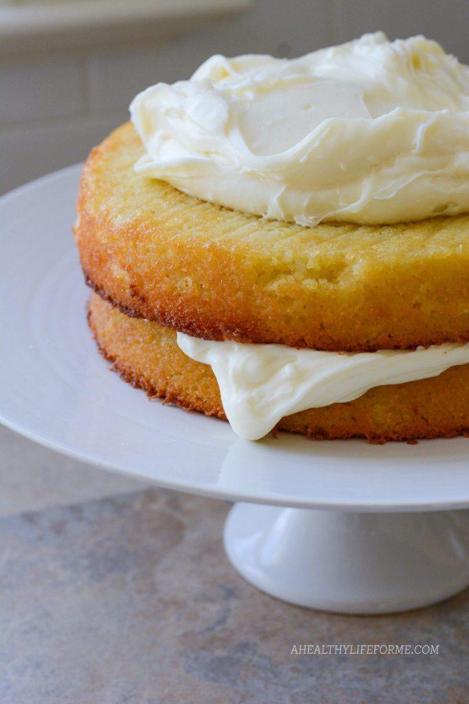 Gluten Free Almond Coconut Cake Recipe | ahealthylifeforme.com