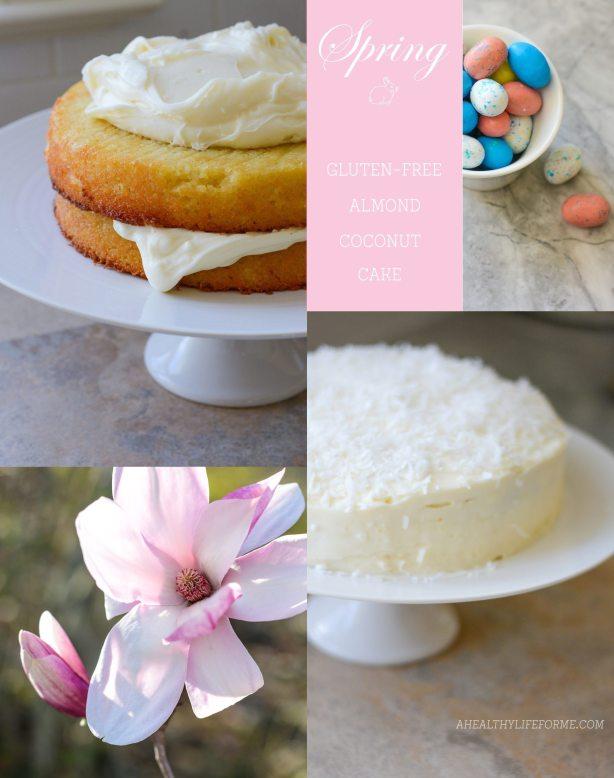 Spring Easter Gluten Free Almond Coconut Cake Recipe