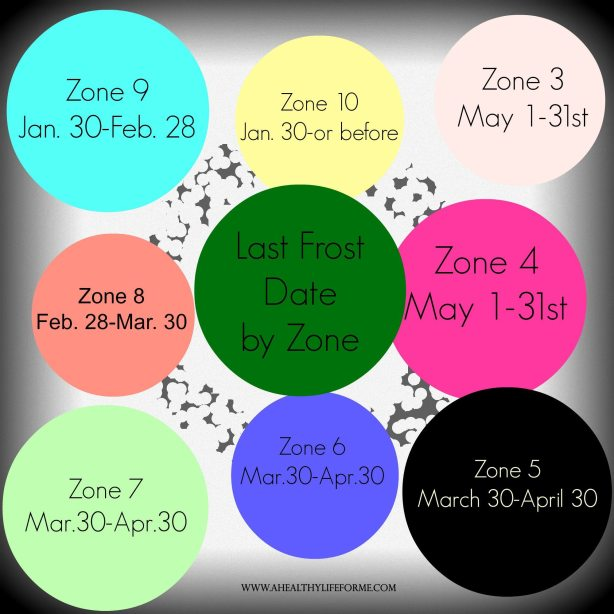 Last Frost Date by Zone Planting Your Spring Vegetable Garden