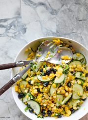 Blueberry Corn Salad Healthy Recipe Clean Eating | ahealhtylifeforme.com
