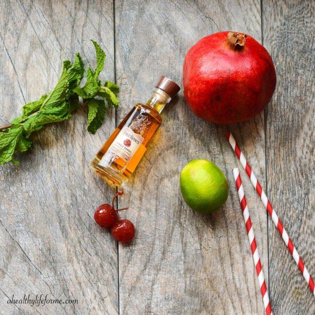 Tart Cherry Pomegranate Bourbon Cocktail for Kentucky Derby