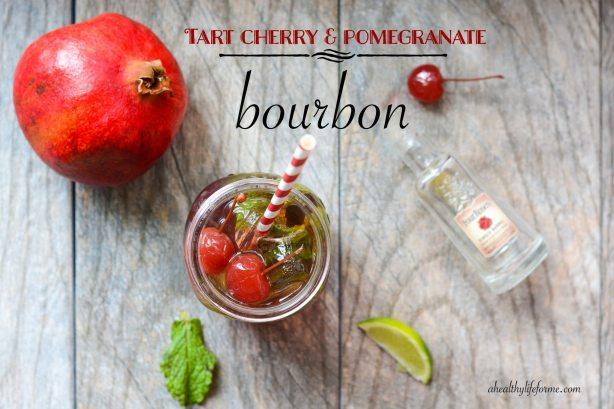 Tart Cherry Pomegranate Bourbon Cocktail Recipe for Kentucky Derby