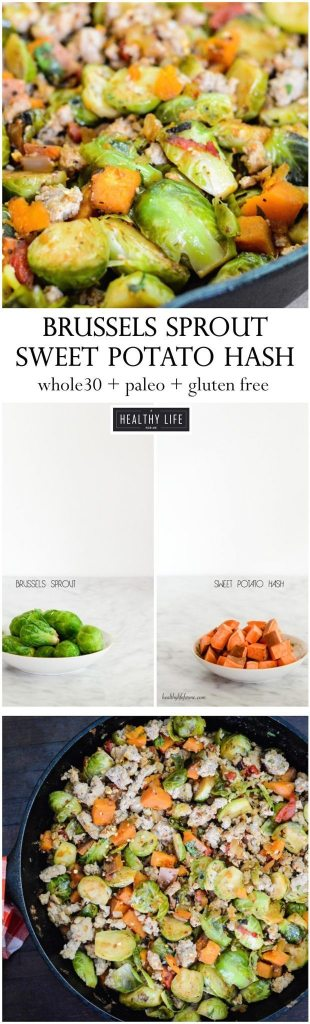 Brussels Sprout Sweet Potato Hash Recipe Paleo Gluten Free   ahealthylifeforme.com