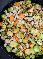 Brussels Sprout with Sweet Potato Hash