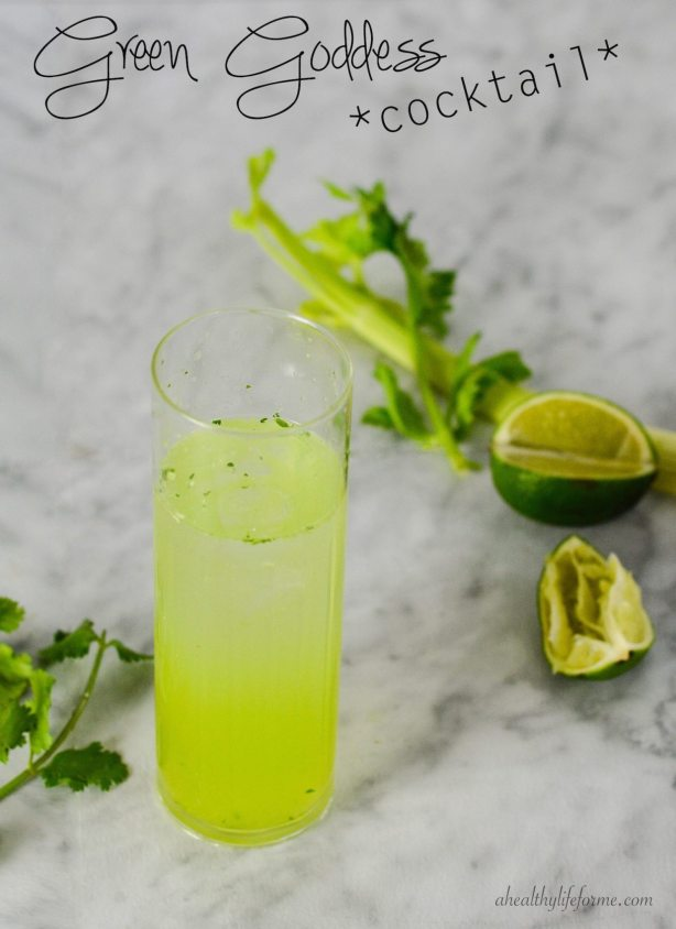 Green Goddess Cocktail | ahealthylifeforme.com