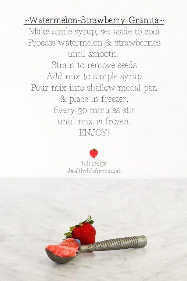 Strawberry Watermelon Granita   ahealthylifeforme.com