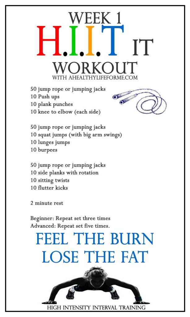 All Over HIIT It workout WEEK 1