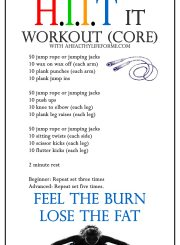 HIIT Workout Core | ahealthylifeforme.com