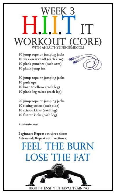 HIIT it Workout CORE Week 3
