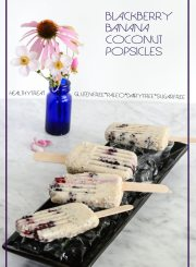 Blackberry Banana Coconut Popsicle Gluten Free Paleo Vegetarian | ahealthylifeforme.com