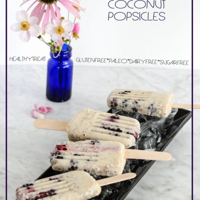 Blackberry Banana Coconut Popsicle