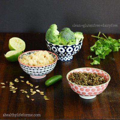Broccoli Quinoa Lentil Salad {gluten free + dairy free}