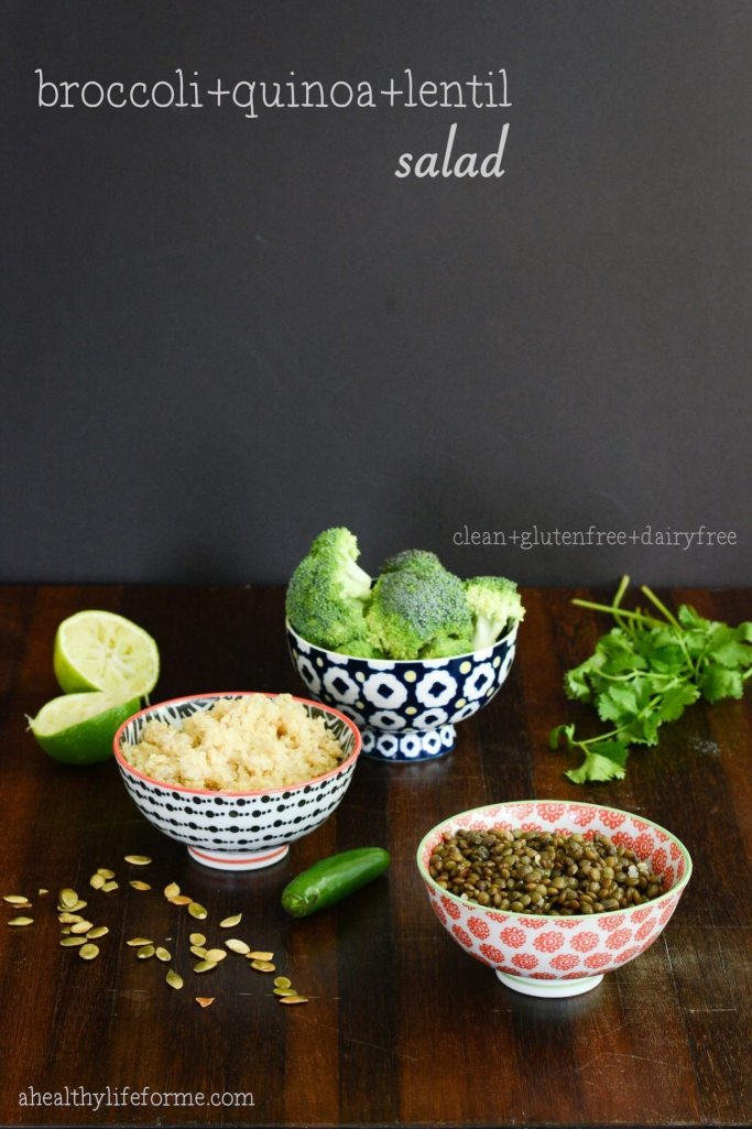 Broccoli Quinoa Lentil Salad Recipe | ahealthylifeforme.com