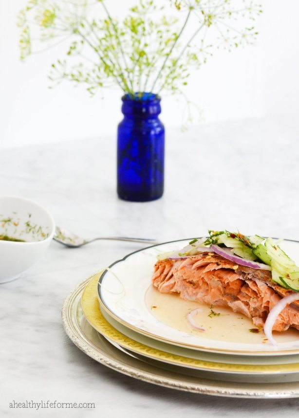 Baked Salmon Cucumber Relish Recipe | ahealthylifeforme.com