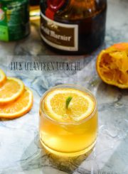 Halloween Cocktail Jack-O'-Lantern Recipe | ahealthylifeforme.com