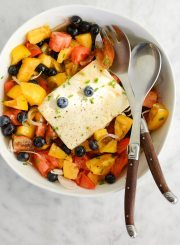 Tomato Blueberry Tofu Salad Recipe | ahealthylifeforme.com