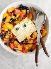 Tomato Blueberry Tofu Salad Recipe | ahealthylifeforme.com