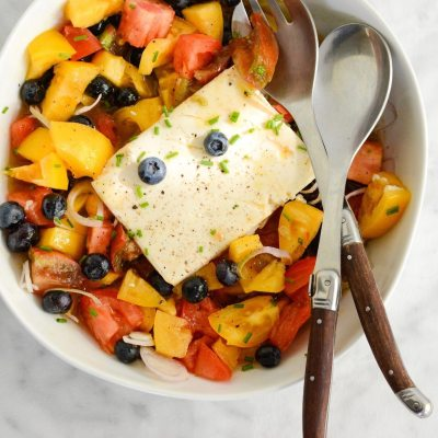 Tomato Blueberry Tofu Salad
