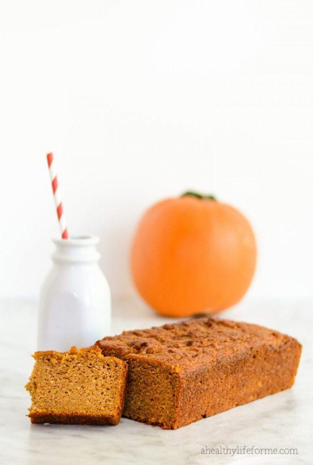 Paleo Gluten Free Pumpkin Bread Recipe | ahealthylifeforme.com