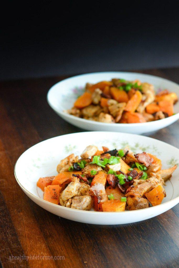Sweet Potato Buffalo Chicken Recipe | ahealthylifeforme.com