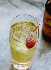 Apple Ginger Sparkle Cocktail Recipe   ahealthylifeforme.com