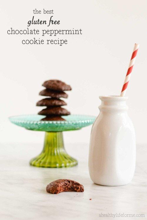 Gluten Free Chocolate Peppermint Cookie Recipe | ahealhtylifeforme.com